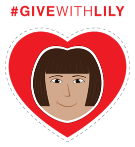 give with lily hashtag